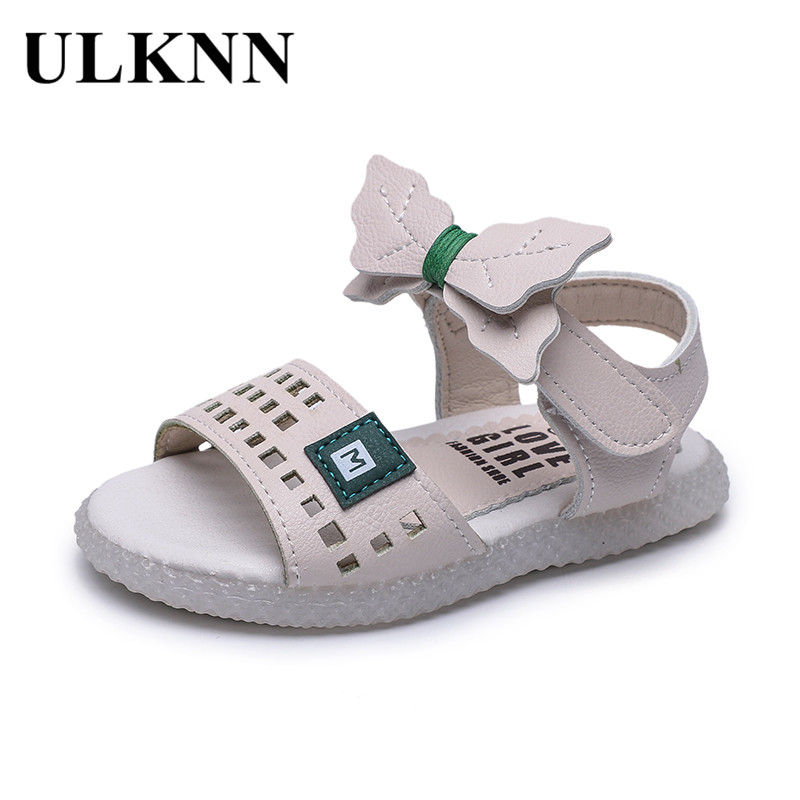 ULKNN 2020 Summer New Style 1-6-Year-Old Baby GIRL'S Sandals Bow Princess Shoes Children Soft Bottom Toddler Shoes Wholesale