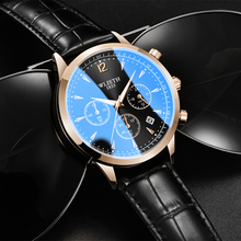 fashion creative men date alloy case synthetic leather analog quartz sport watch male clock top brand luxury relogio masculino 2020 New Mens Watches Top Brand Luxury Leather Casual Quartz Watch Men Sport Waterproof Auto Date male Clock Relogio Masculino