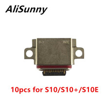 AliSunny 10 قطعة USB ميناء حوض موصل سامسونج غالاكسي S10 زائد S10E شحن شاحن التوصيل استبدال أجزاء