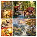 5D Diy Diamond Painting Deer Animals Cross Stitch Kits Full Drill Embroidery Elk Landscape Mosaic Art Picture home decoration