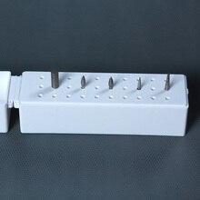 30 отверстий для ногтей сверла держатель бит стенд дисплей Шлифовальная головка коробка для хранения бит стойки Маникюрный Инструмент BV789