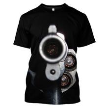 WFK new product sale Gun weapon T-shirt 3D printing  t shirt худи tshirt pokemon футболка billie eilish