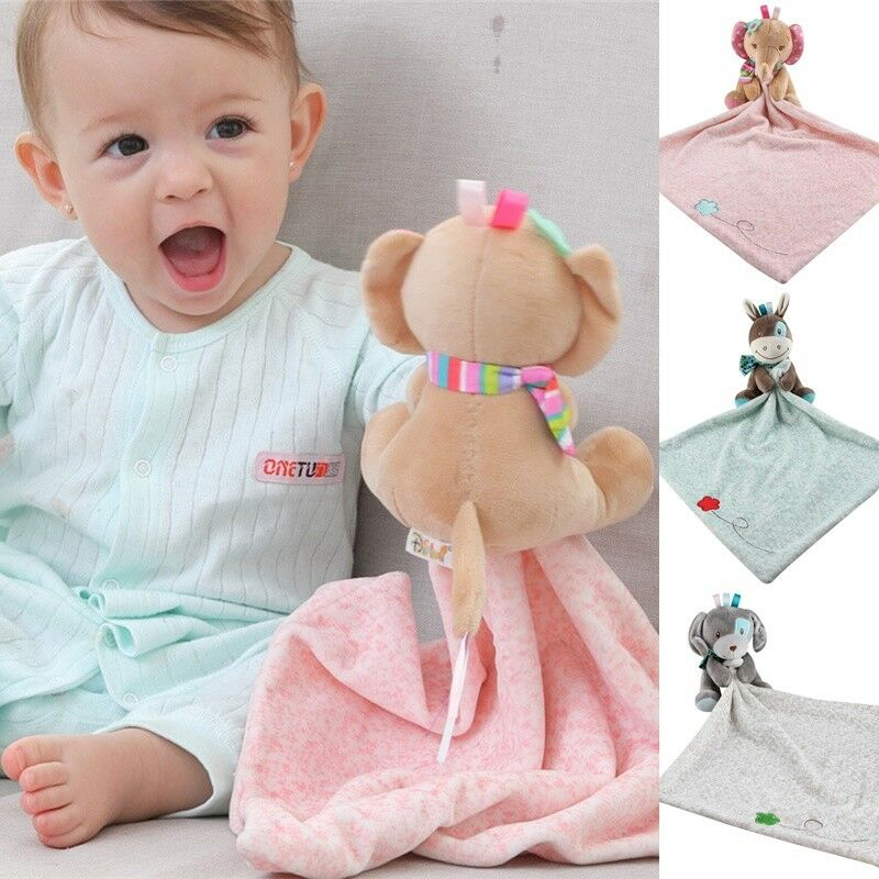Stuffed Toys Soft Animal Soothe Appease Towel Baby Calm Sleeping Plush Pacify Toy Infant Saliva Teether Towel Comforter Toys 03L