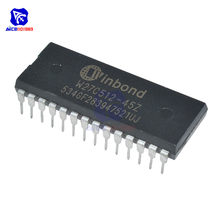 Diymore – lot de 10 puces IC W27C512 28dip IC EEPROM 512KBIT, Circuits intégrés originaux