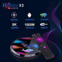H96 Max X3 Amlogic S905X3 TV BOX 4GB 32GB 5G WIFI bluetooth 4,0 de 1000M LAN Android 9,0 4K 8K VP9 H.265 USB3.0 Set Top Box
