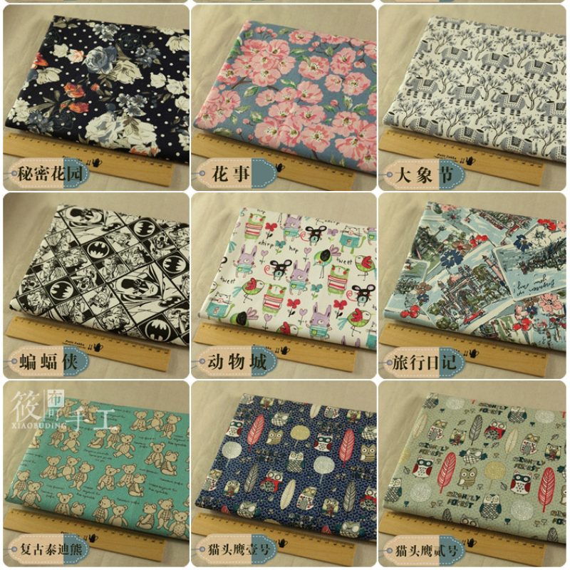 145cm Breadth High Quality Cotton 12 - Inch Canvas Fabric Printed Vintage Flora
