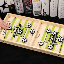 Toy Table-Chess Hockey-Game Wooden Football-Bumper Desktop 2-In-1 Parent-Child-Games