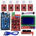 Принтеры Запчасти Набор аксессуаров ЖК-контроллер A4988 Прочный DIY RAMPS 1 4 Mega2560 комплект плата расширения Профессиональный для Arduino