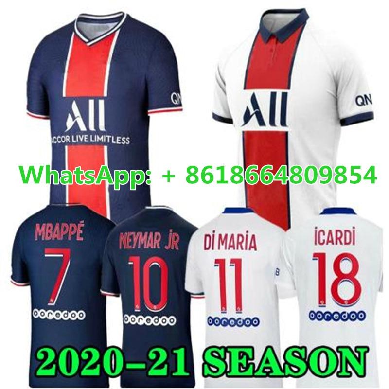 2020 2021 Psg Soccer Jersey Mbappe Icardi Sarabia Verratti Cavani Neymar 20 21 Shirt Home Away Football Uniform Aliexpress