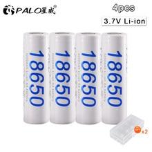 PALO – lot de 4 batteries lithium-ion, rechargeables, 30a, 18650 V, 3.7 mAH, 3200, 3.7