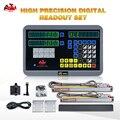 2 achsen Digital Anzeige HXX DRO und 2Pcs 5u 50 1000mm optische lineare skala system-in Füllstandmessgeräte aus Werkzeug bei