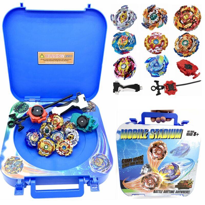 beyblade burst Mobile beystadium set collect box arena stadium with launcher handle as children gifts