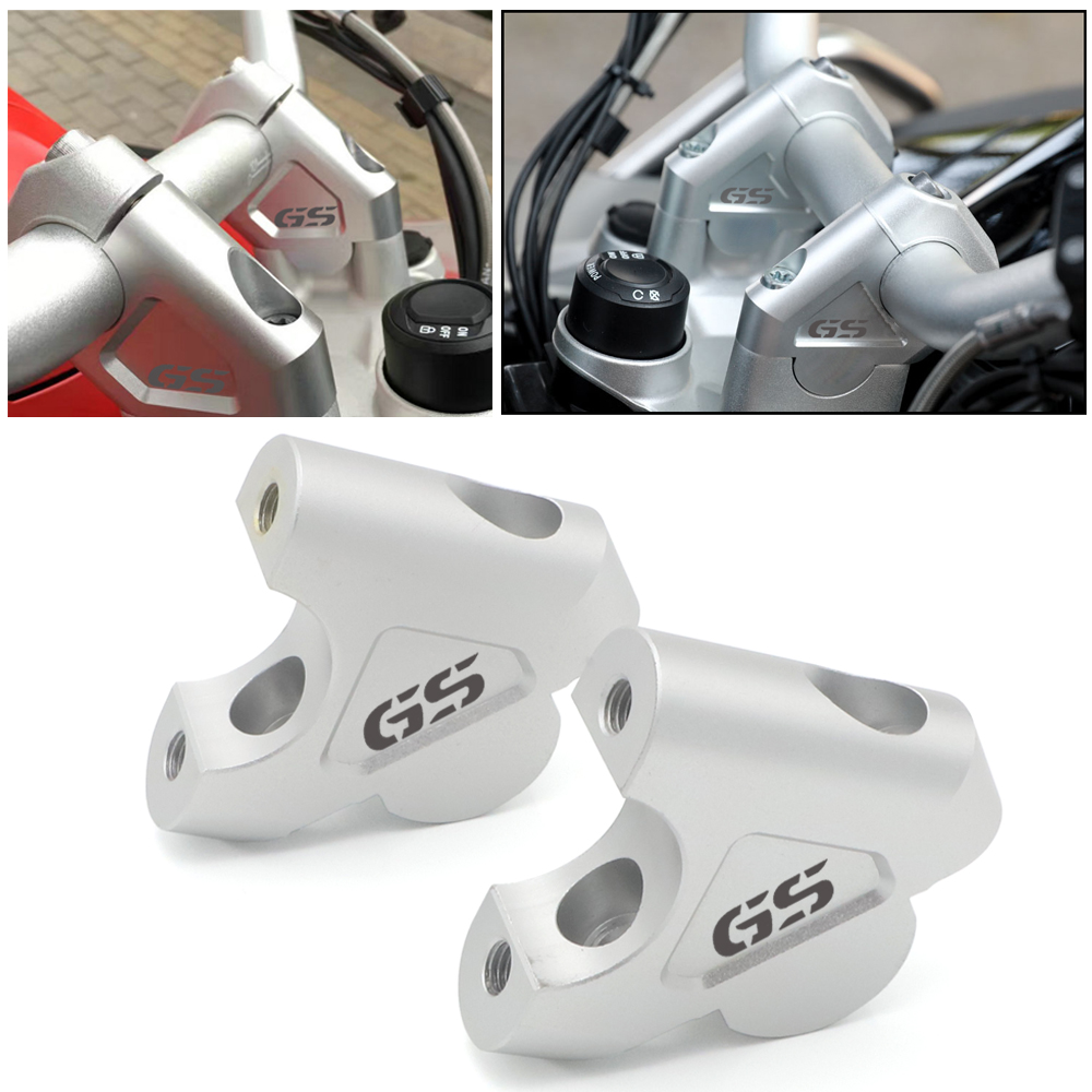 For BMW R1200GS LC R 1200GS Adventure ADV R1250GS 2014 2015 2016 <font><b>2017</b></font> 2018 Handle Bar Riser Clamp Extend Handlebar Adapter Mount image