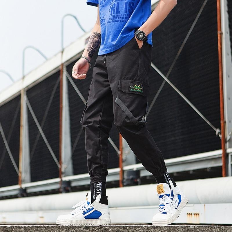 Streetwear Camouflage Overalls Men Fashion Design Men's Jogging Pants Multi-Pocket SweatPants Mens Cotton Pants Large Size 5XL
