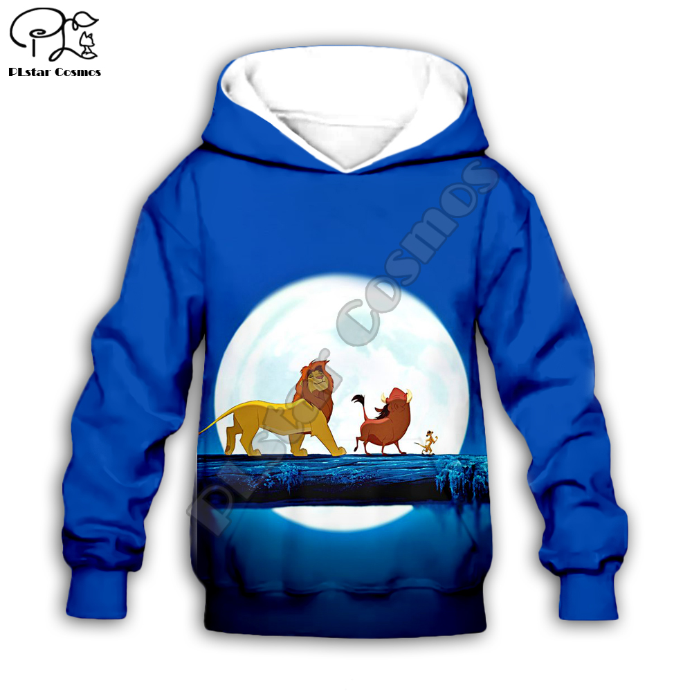 Simba The Lion King Cartoon Hoodie Kids Baby 3D Print Zipper Hoodies Sweatshirts Boy Girl Long Sleeve  Cartoon Style-7