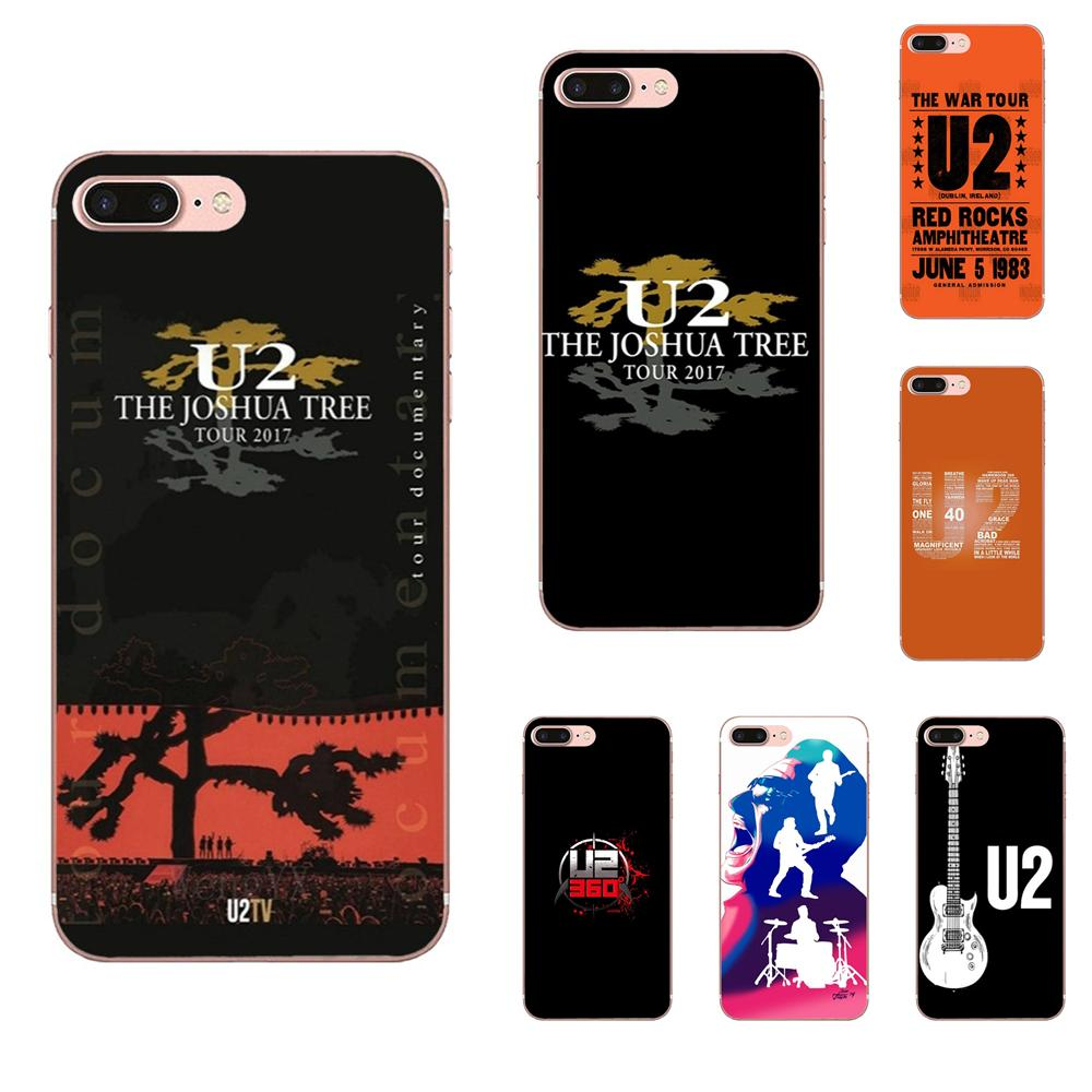 Soft Silicone TPU Transparent Phone Case Rock Music U2 Irish Logo For Apple iPhone 11 Pro XS Max XR X 8 7 6 6S Plus 5 5S SE 4 4S image