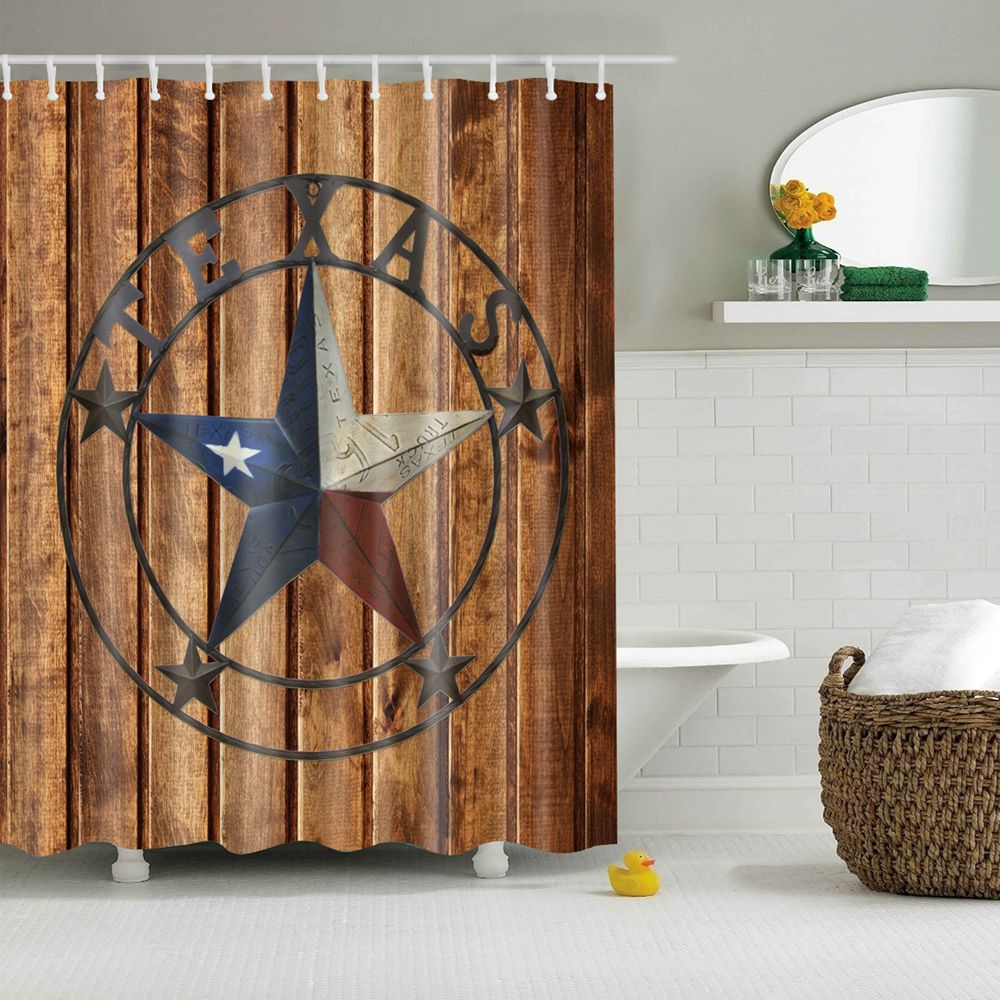 Image 5 - Dafield Fabric Rustic Vintage Old Wooden Door Decorations Bathroom Polyester Waterproof Washable Wood Door Shower Curtain-in Shower Curtains from Home & Garden