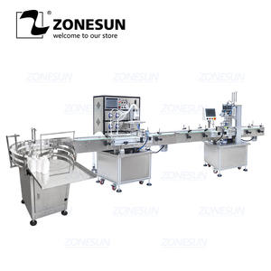 ZONESUN Bottle Capping-Packaging Production-Line Automatic for Alcohol Disinfectant Water-Liquid