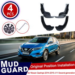 for Nissan Qashqai J11 2014~2019 Car Mud Flaps Front Rear Mudguard Splash Guards Fender Mudflaps Flap Accessories 2th 2 2015