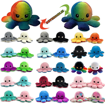 toy plush Reversible Flip Octopu Plush Stuffed Toy Soft Animal Home Accessories Cute Doll Children Gifts Baby Companion