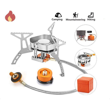 Przenośna kuchenka gazowa lekka Mini kieszeń kuchenka gotowanie wiatroodporny składany palnik składany trójkąt piec na zewnątrz tanie i dobre opinie CN (pochodzenie) Brak w zestawie NONE