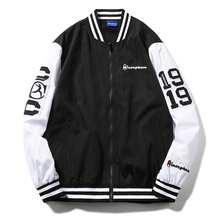 Men streetwear clothes Vintage Multicolor Color Block Patchwork Windbreaker Jackets Autumn Hip Hop Streetwear neutral Casual