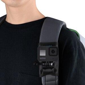 Image 3 - 360 derece rotasyon Quick Release sırt çantası kemer düğmesi dağı toka klip adaptörü Gopro Hero 9/8/7/6/5/4 Xiaoyi eylem kamera