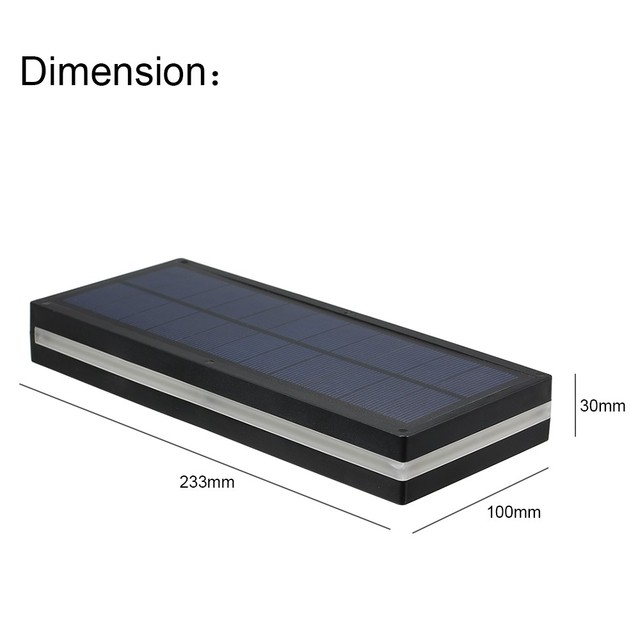 144 LED Solar Power Motion Sensor Wall Light Outdoor Garden Lamp Waterproof 2