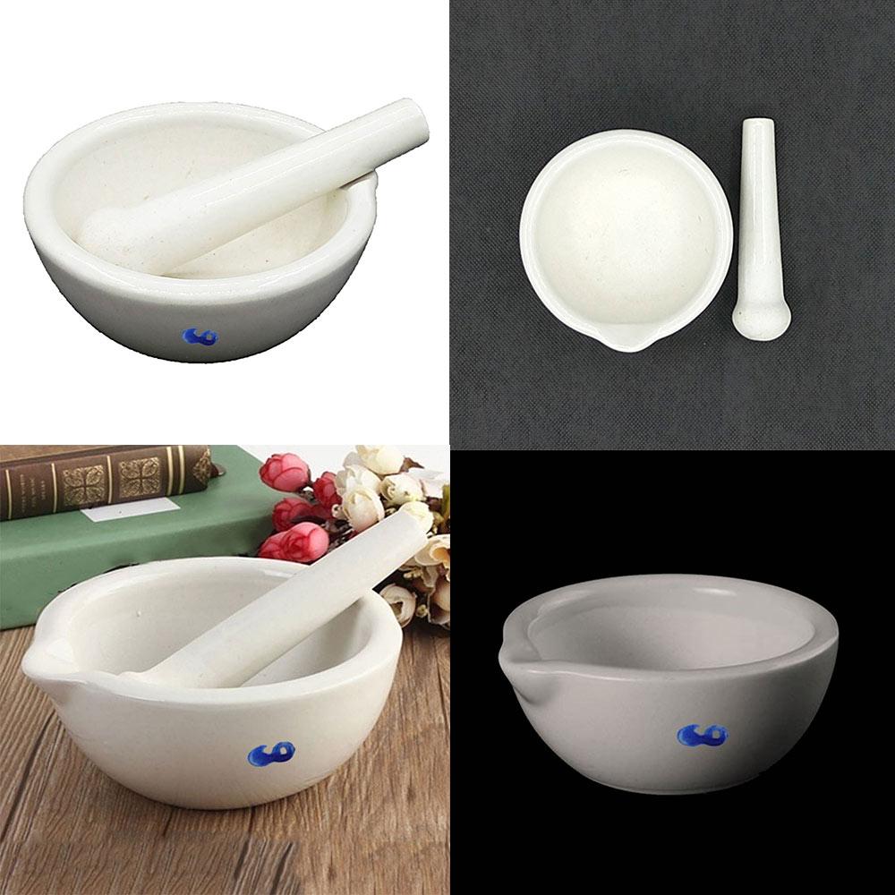 2020 el blanco nuevo que cubre el Actual mortero de porcelana y el juego de cuenco de molienda de mezcla de mortero
