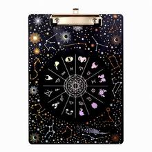 Fantasy Starry Acrylic Plated Clipboard For A4 Paper Student's Fashion Writing Board Stationery Creative Powder Transparent