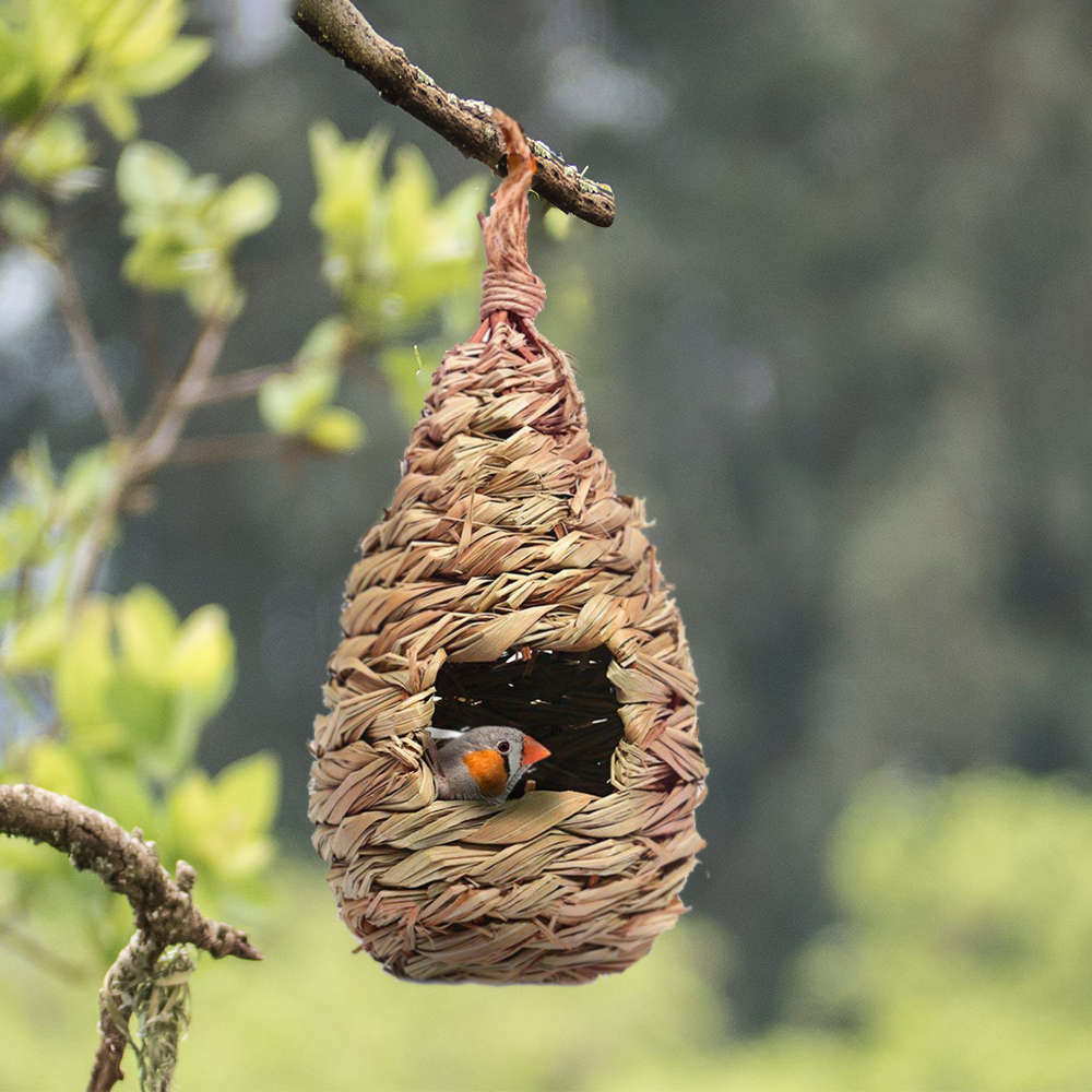 Handmade Bird Nest Natural Durable Comfortable Bird House Outdoor Hanging Birdhouse