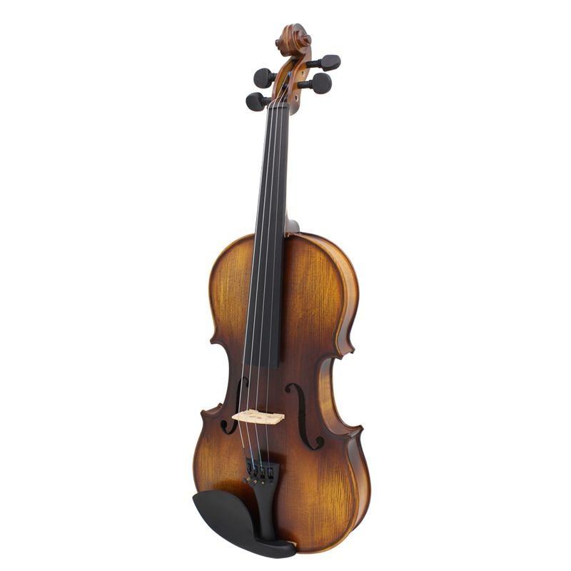 SLADE AV-508 4/4 Full Size Acoustic Violin Fiddle Kit Solid Wood Matte Finish ebony Face Board 4-String Instrument