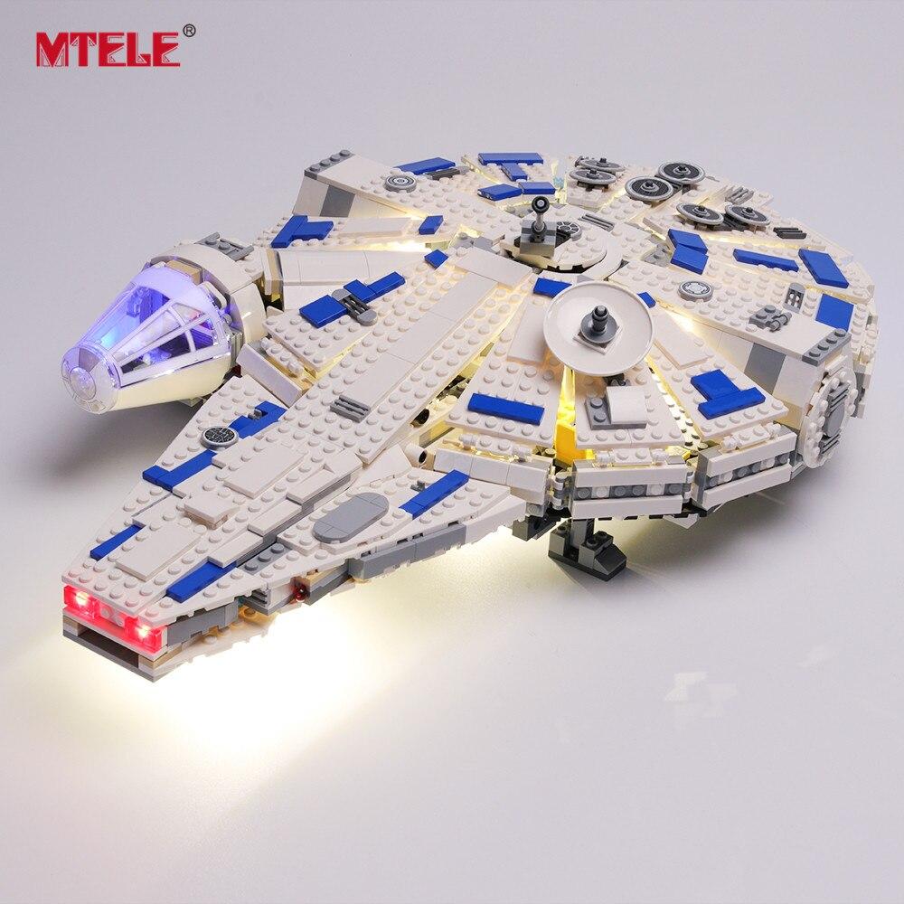MTELE Brand LED Light Up Kit For Story Kessel Run Millennium Model Falcon Lighting Set Compatile With Legos 75212