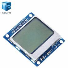 חכם אלקטרוניקה LCD מודול תצוגת צג כחול תאורה אחורית מתאם PCB 84*48 84x84 lcd 5110 נוקיה 5110 מסך עבור Arduino
