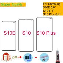S10 For Samsung Galaxy S10 S10E S10 Plus Touch Screen Front LCD Glass Panel Outer Glass Lens S10+ Touch Panel Replacement цена 2017