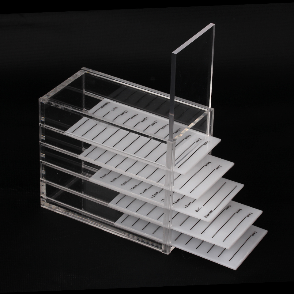 5 Layer Eyelash Extension Storage Box Acrylic Lash Holder Pallet For Individual Volume Lash Extension Display Stand Makeup Tools