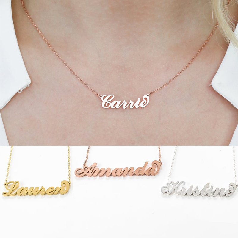 HIYONG Custom Necklaces Personalized Name Necklaces Jewelry Personality Letter Choker Necklaces with Name for Women Girls Gifts in Chain Necklaces from Jewelry Accessories