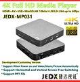 Медиаплеер JEDX MP031 4K Full HD с HDMI2.0/AV/USB/MiniSD картой 4K 10 бит HDR H.265/H.264 VP8 видео до 60 кадров в секунду