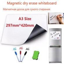 Белая виниловая магнитная доска для стирания белая магнитов