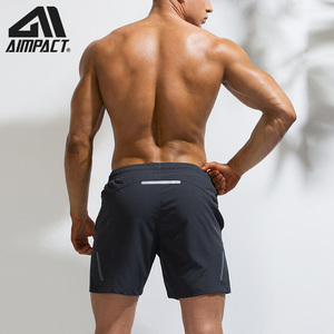 Image 2 - AIMPACT Mens Summer Fitness Shorts Mens Jogger Casual Knee Length Liner Shorts Bodybuilding Quick Dry Workout Beach Sportwears