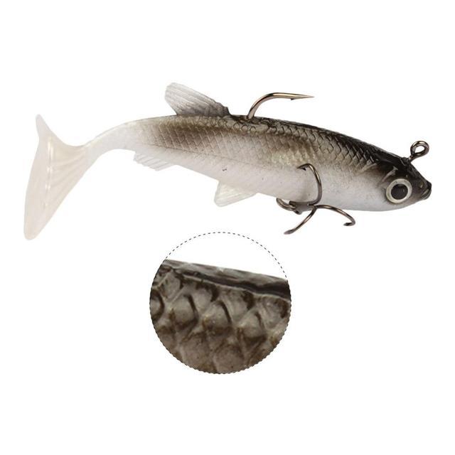 5 pièces appât doux bar de mer appât bricolage tête de plomb Jig poisson T queue bar de mer leurre matériel de pêche accessoire de pêche