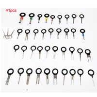 41 pçs fiação crimp conector pino extrator extrator terminal do carro kit de remoção reparação terminal ferramentas profissionais