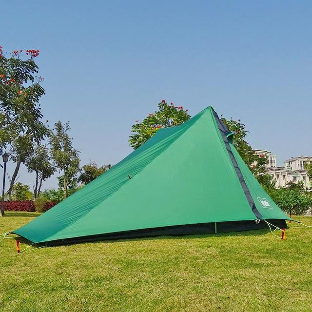A 피크 울트라 라이트로드 레스 텐트 1 2 인 캠핑 하이킹 트레킹 배낭 방수 20D 텐트 솔로 싱글 Bivvy 텐트
