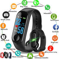 Smart Bracelet M3 Heart Rate Blood Pressure Monitor Pulse Wristband Fitness OLED Tracker Watch For ios android phone