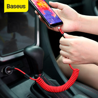 Baseus Spring USB Type C Cable for Xiaomi Mi 9 Huawei P30 Lite Samsung S10 2A USB C Fast Chagrge Cable Retractable Type C Cable