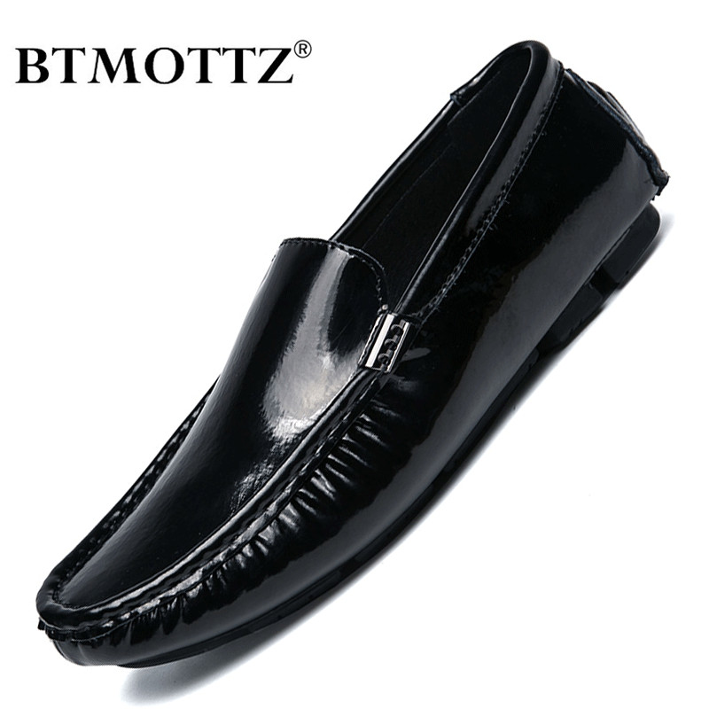 Genuine Leather Men Casual Shoes Luxury Brand 2020 Mens Loafers Moccasins Breathable Slip On Lazy Driving Shoes Plus Size 38-47