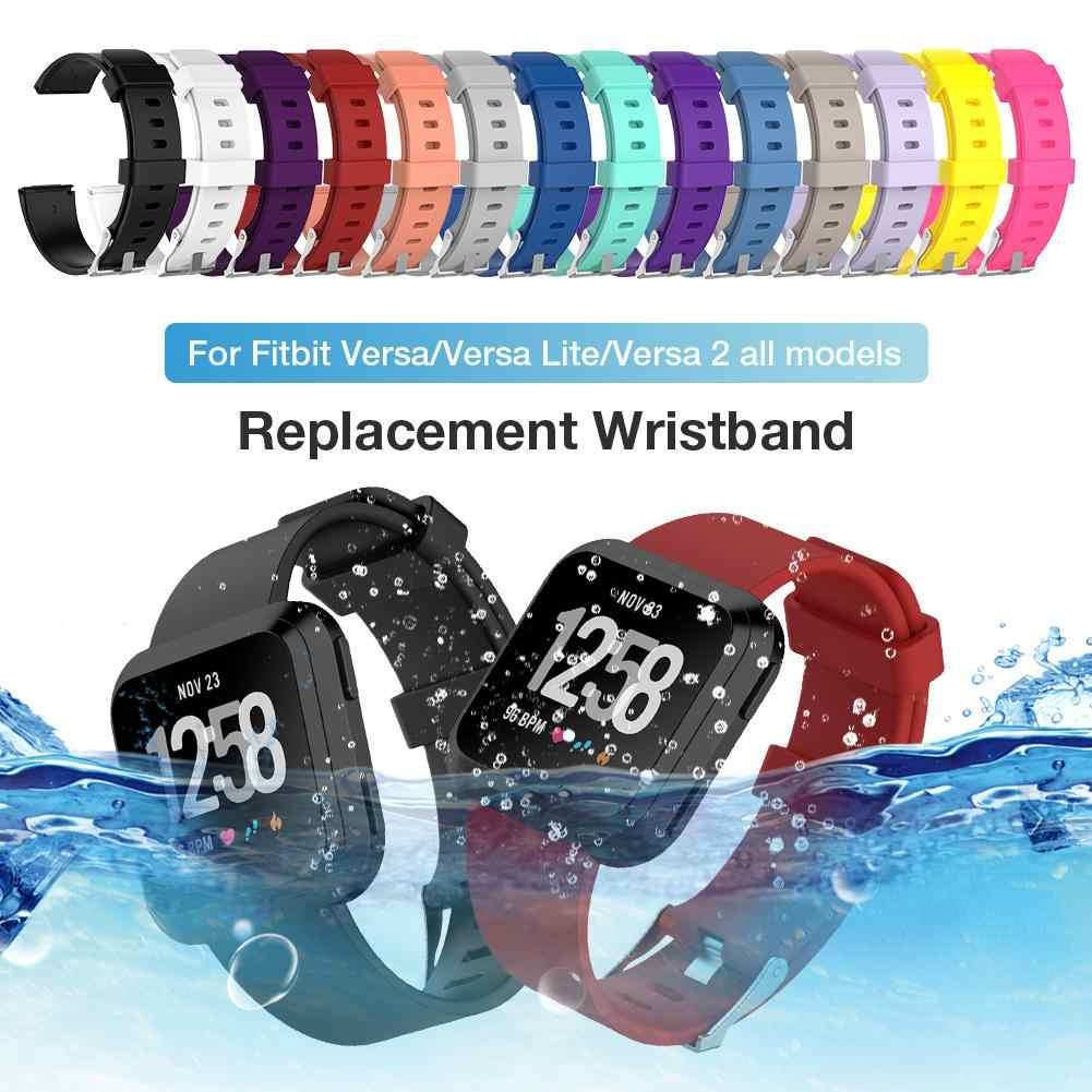 Sostituzione Wristband Morbido Cinturino di Vigilanza Del Silicone Del Braccialetto Per Fitbit Versa/Versa Lite/Versa 2 Commercio All'ingrosso di Sostegno Dropship