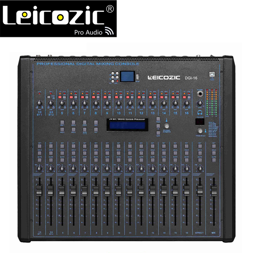 Leicozic 16 Kanal Digital Mixer Studio Live DGI16 Audio Digital Studio Mixer Rack Montierbar Kompakte mit aufnahme für bühne