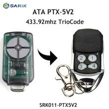 Controle remoto da porta de garagem ata PTX 5V2 433.92 mhz, código rolante de substituição