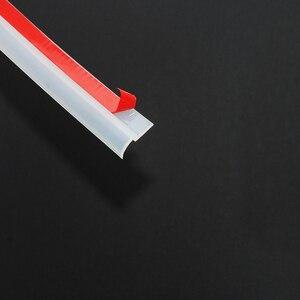 Image 3 - 4 metros z tipo tira de vedação da porta do carro isolamento acústico transparente tira de vedação preta alta qualidade auto vedação fita porta selo
